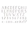 Hand drawn alphabet abc font alphabet vector image
