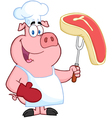 Happy Pig Chef vector image