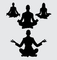 meditation silhouette vector image