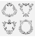 Tribal frame set vector image