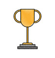 trophy award leader success business concept vector image