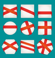 sheet of paper with red ribbons set vector image