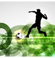 football or soccer player background vector image vector image