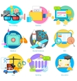 Flat style pictogram for user interface vector image