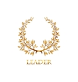 gold laurel vector image