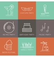 Icon set of parties vector image