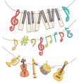 cute musical signs vector image vector image
