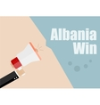 Albania win Flat design business vector image