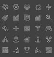 career outline icons vector image