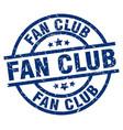 fan club blue round grunge stamp vector image