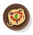 Italian pasta Isolated on vector image