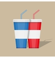paper cup template for soda vector image