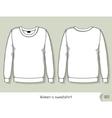 Women sweatshirt Template for design easily vector image vector image