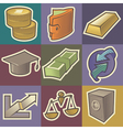 Multicolored finance icons vector image vector image