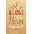 Barbershop Poster Kraft vector image