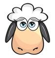 sheep glava resize vector image vector image