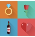 flat modern love backgrounds Eps10 vector image