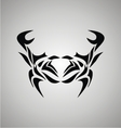 Tribal Crab vector image vector image