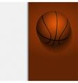 basketball border background on white vector image vector image