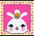 Cute Happy Easter card vector image