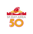 50 San Francisco Pro Football Championship vector image