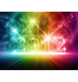 colorful transparent year 2012 vector image