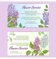 Two business cards with lilac vector image vector image