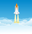 Wide Sky and Shuttle vector image vector image
