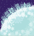 background with winter house vector image