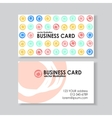 dot business card vector image