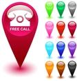 Free call button vector image