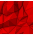 Red Abstract Polygonal Background vector image