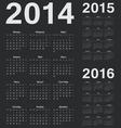 Simple russian 2014 2015 2016 year calendars vector image