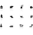 Thai icons vector image