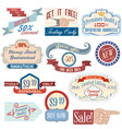 Vintage badges4 vector image