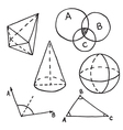 Geometry doodle Outlined vector image