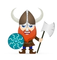 Viking red beard vector image