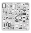 Flat icons hotel set vector image