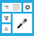flat workshop set of accumulator ratchet tire vector image