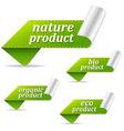 Organic Sales Tags vector image