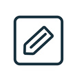 pencil icon Rounded squares button vector image