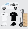 Delivery company design vector image