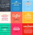 Retro Bakery Label Sets vector image