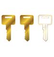 house key three vector image