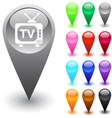 TV button vector image