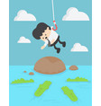 concept businessman victim into water full with vector image