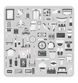 flat icons hotel set vector image