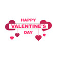 Happy valentines day festive background vector image