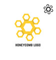 honeycomb yellow logo like sun vector image
