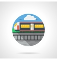 Passenger train color detailed icon vector image